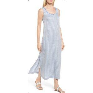 Caslon Stripe Linen Maxi Dress